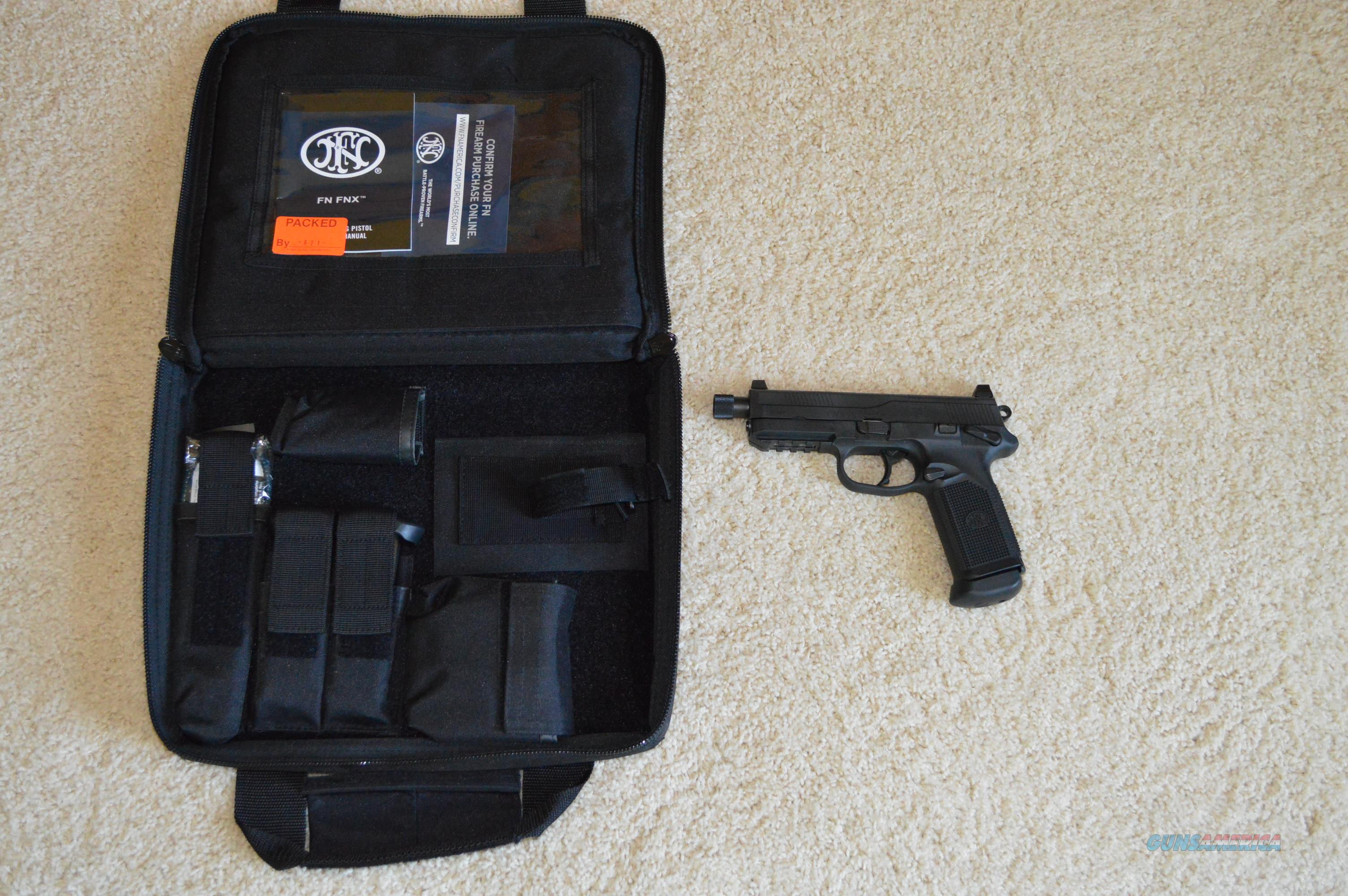 FN FNX-45 Tactical Black FREE SHIP NO CC FEE!  Guns > Pistols > FNH - Fabrique Nationale (FN) Pistols > FNX