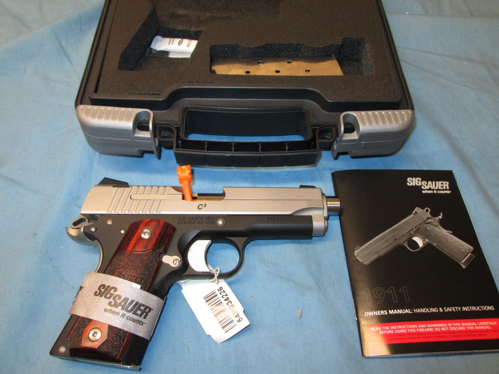 CLEARANCE SALE! Sig 1911 C3 45 ACP 2 Tone  Guns > Pistols > Sig - Sauer/Sigarms Pistols > 1911