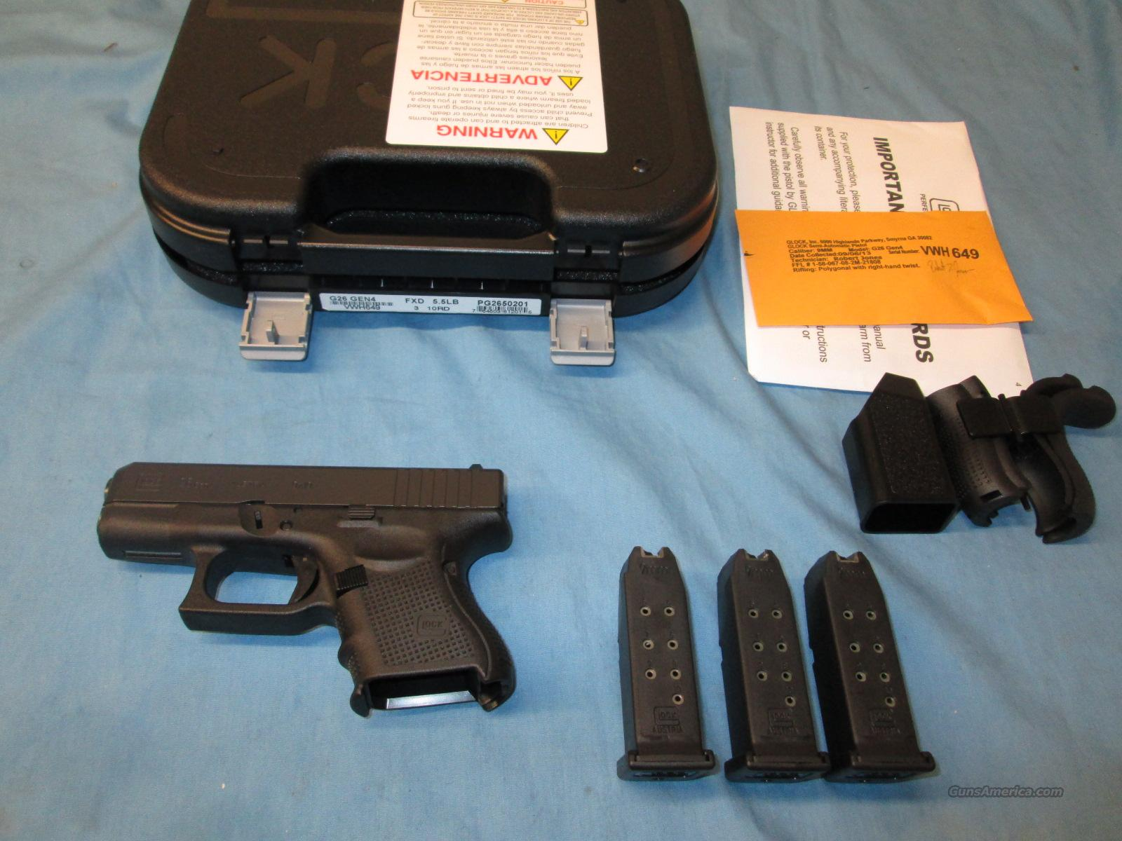 ON SALE! Glock 26 Gen 4 FREE SHIP!  Guns > Pistols > Glock Pistols > 26/27