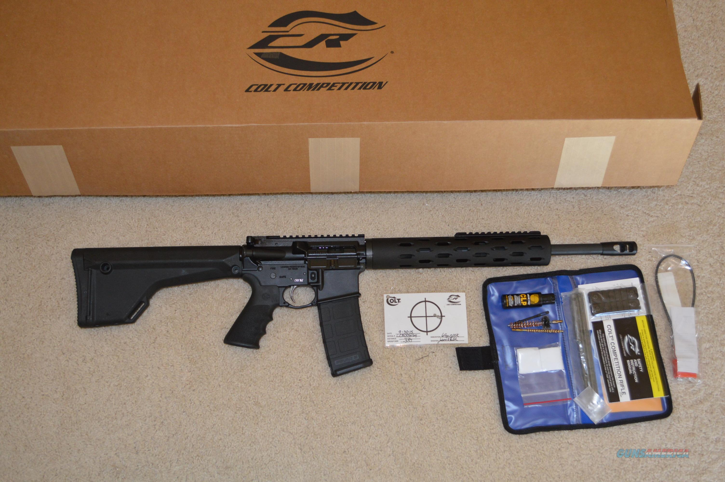 Colt Competition CRX-16E 0.357 MOA  Guns > Rifles > Colt Military/Tactical Rifles