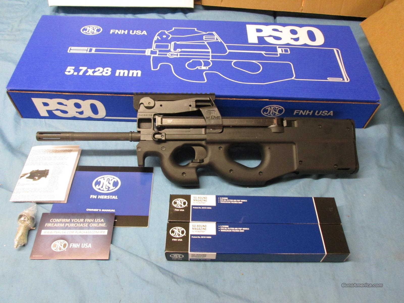 FN PS-90 + Extras  Guns > Rifles > FNH - Fabrique Nationale (FN) Rifles > Semi-auto > PS90