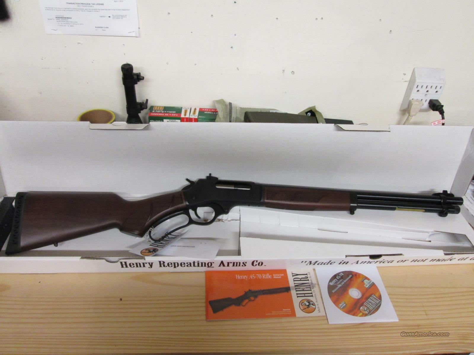 Sale! Henry 45-70 Lever Action Rifle  Guns > Rifles > Henry Rifle Company