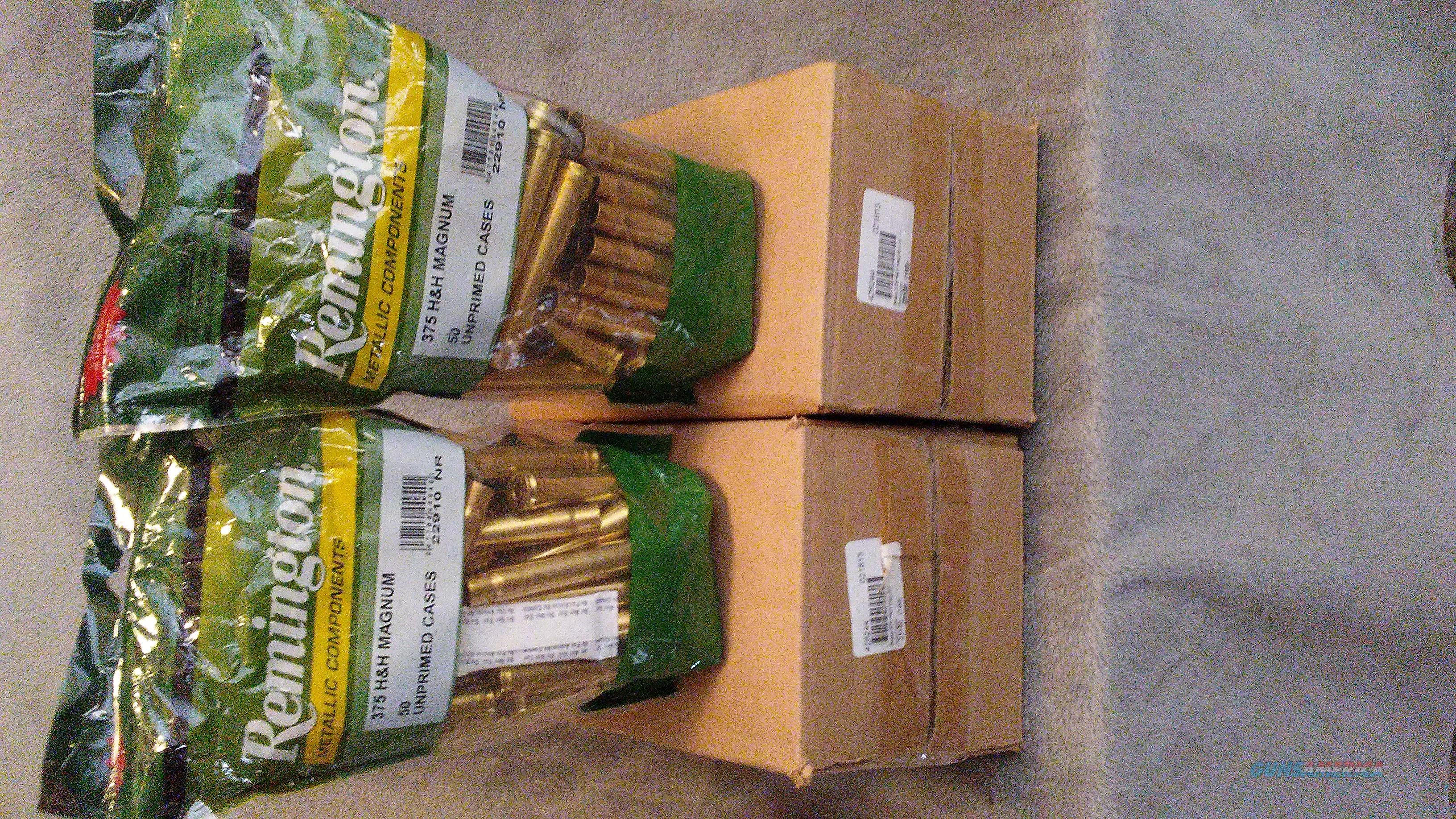 NIB 375 H&H REMINGTON BRASS  300 pcs.  Non-Guns > Reloading > Components > Brass