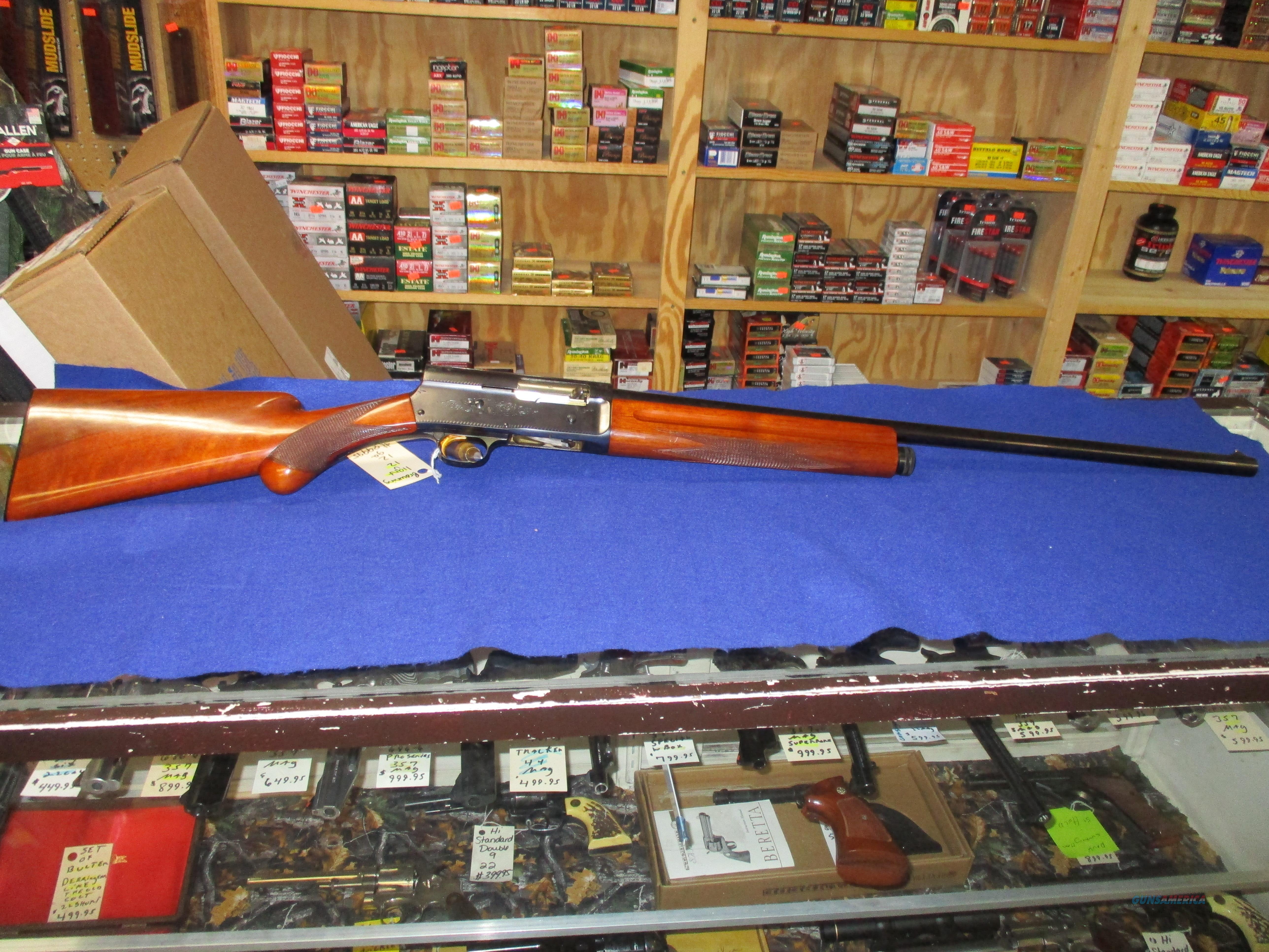 BROWNING LIGHT 12 12GA. SERIAL NO. 35261  Guns > Shotguns > Browning Shotguns > Autoloaders > Hunting