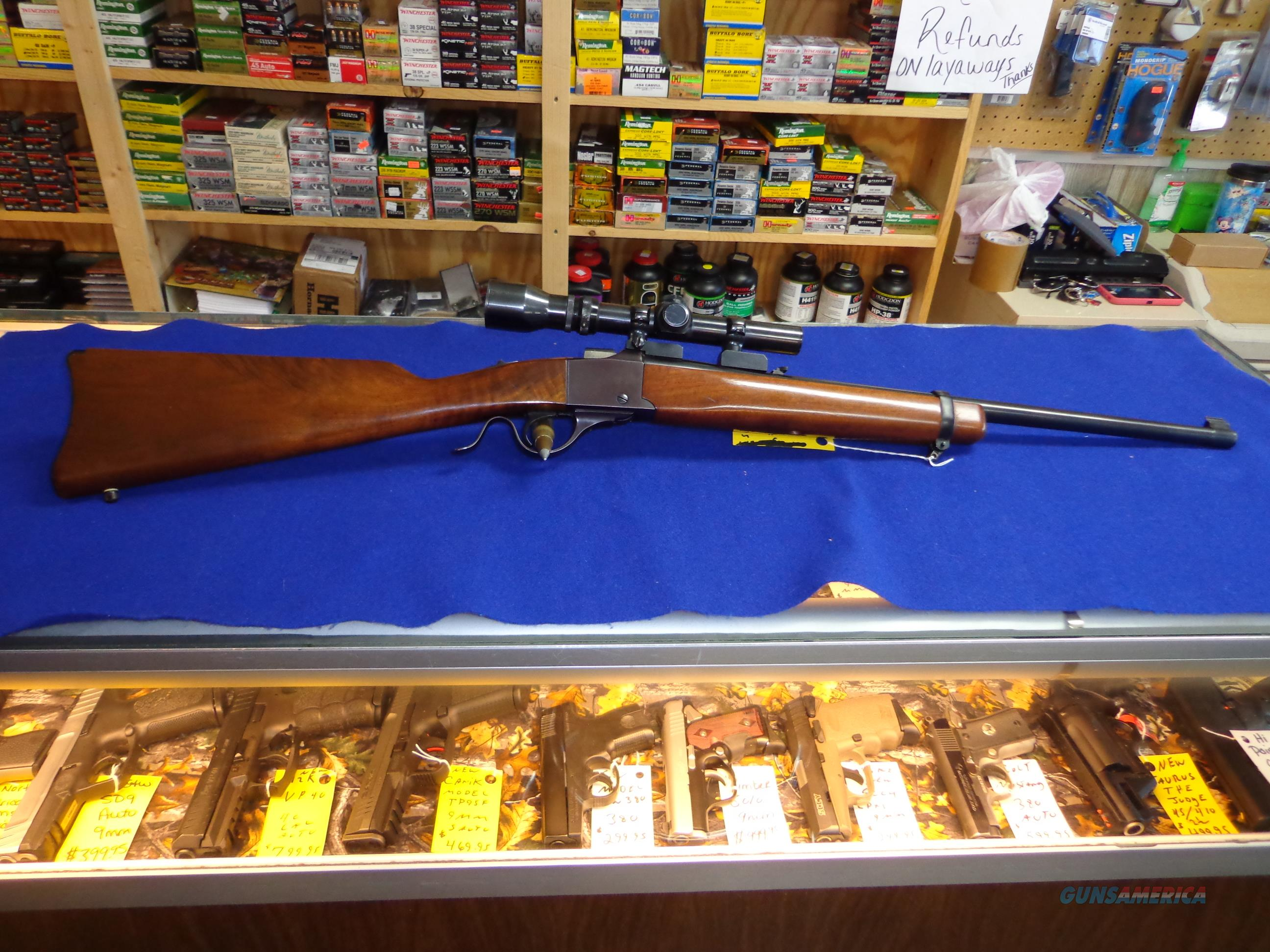 RUGER NO 3 223 SINGLE SHOT WITH A 1 1/2 X 4 1/2 WEAVER  Guns > Rifles > Ruger Rifles > #1 Type