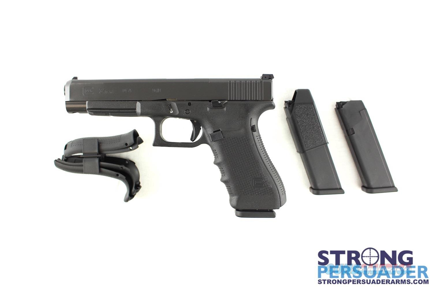 Glock 34 Gen 4 MOS Optics Ready 9mm  Guns > Pistols > Glock Pistols > 34