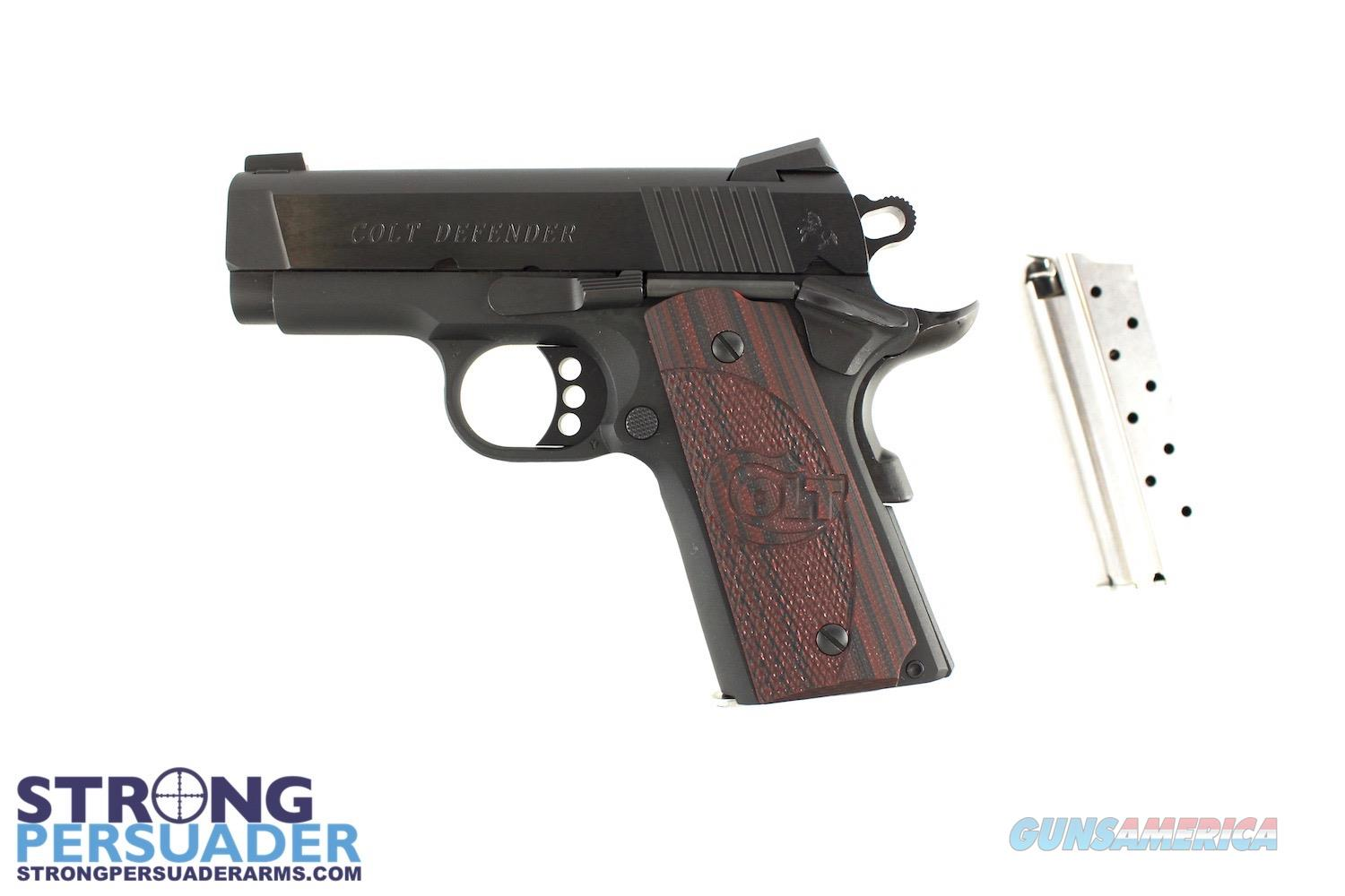 Colt Defender 9mm Black w/ Wood Grips  Guns > Pistols > Colt Automatic Pistols (1911 & Var)