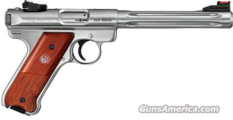 Ruger Mark III Cocobolo Hunter .22LR (Stainless/Wood)  Guns > Pistols > Ruger Semi-Auto Pistols > Mark I/II/III Family