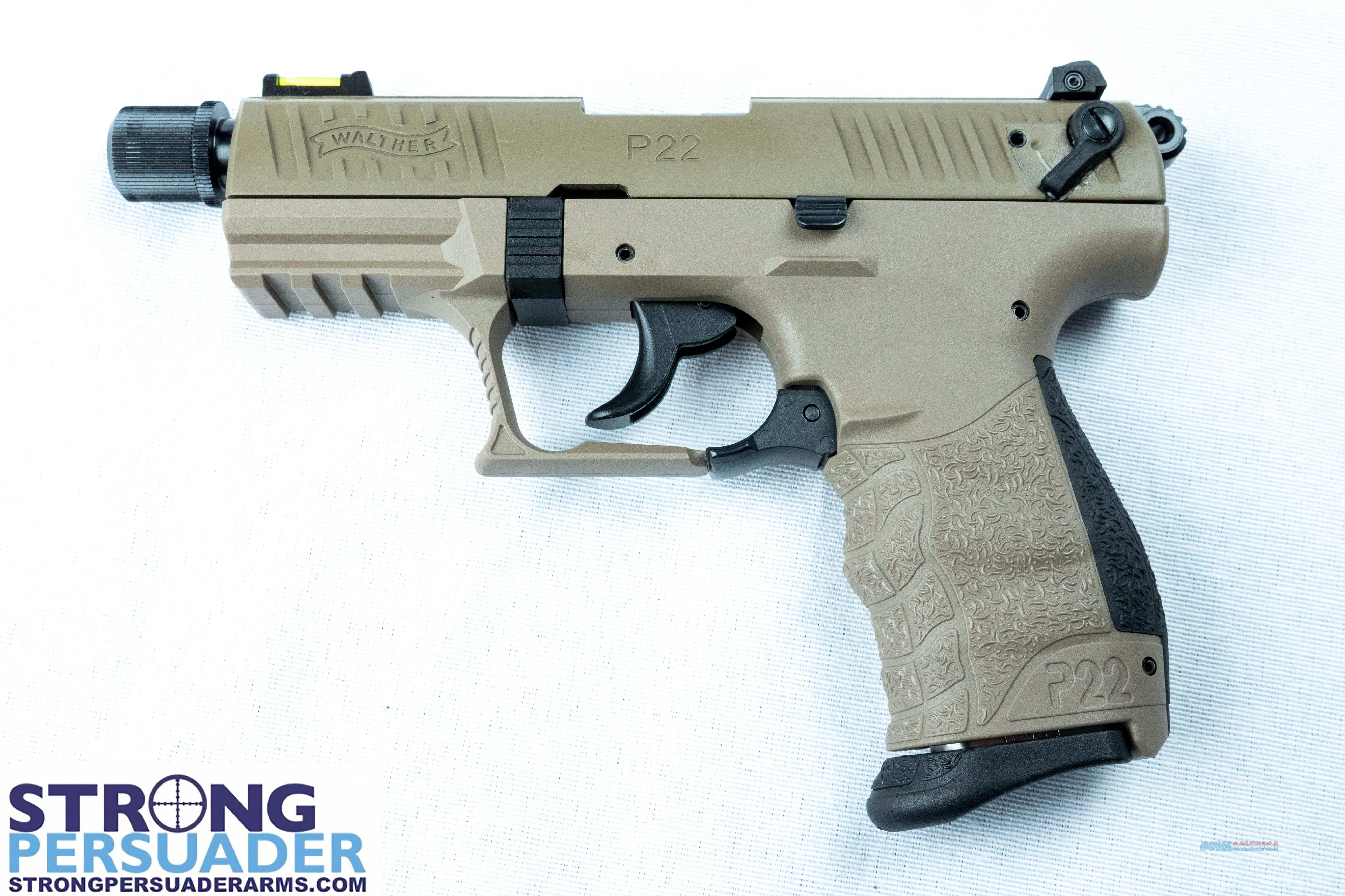 Walther P22 QD Tactical FDE (5120553)  Guns > Pistols > Walther Pistols > Post WWII > P22