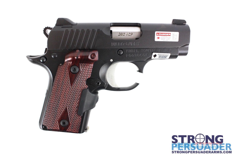 Kimber Micro Crimson Carry Black/Rosewood Laser Grips .380  Guns > Pistols > Kimber of America Pistols > Micro