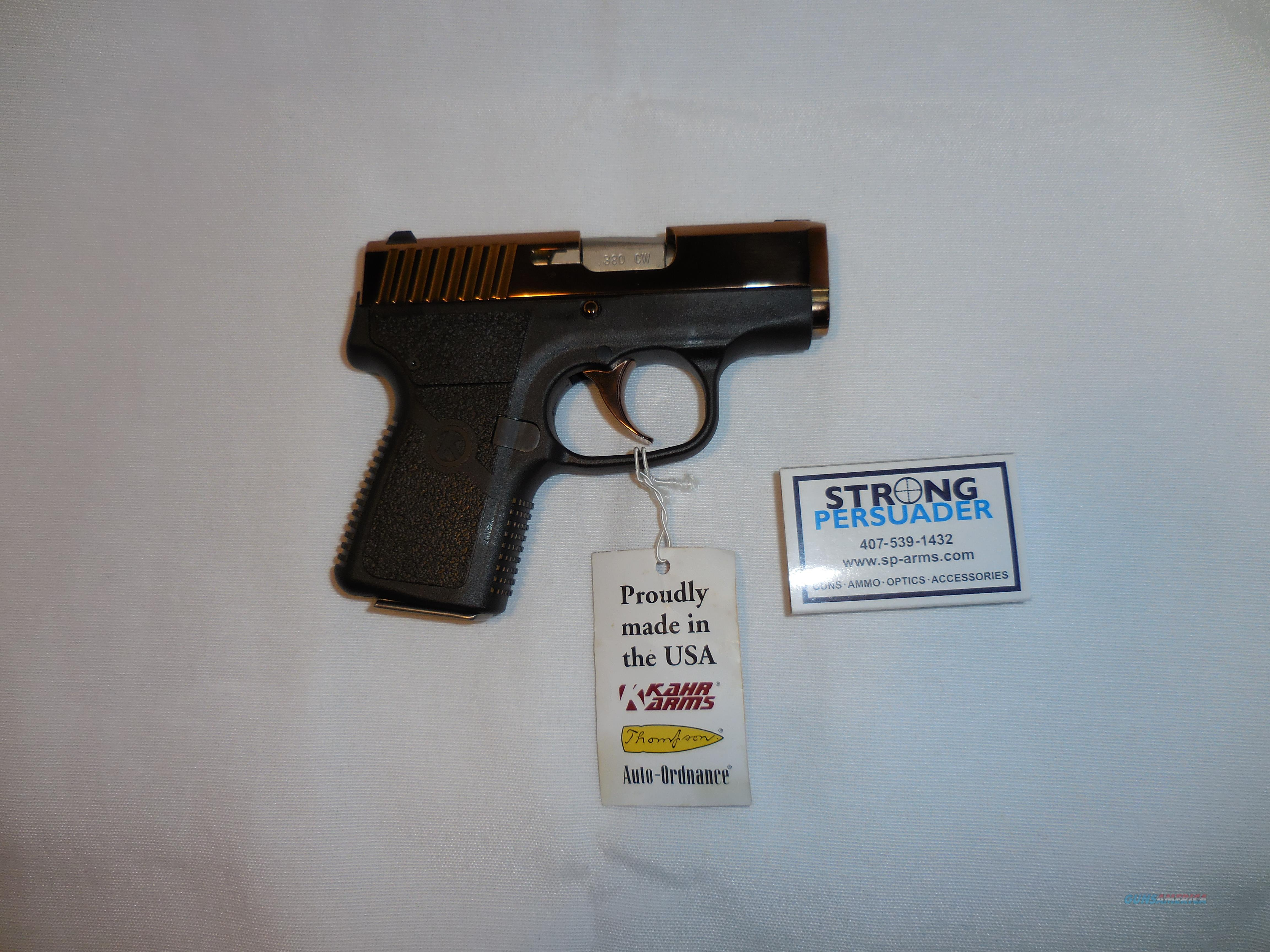 USED Kahr CW 380 Dusty Rose NEVER FIRED  Guns > Pistols > Kahr Pistols