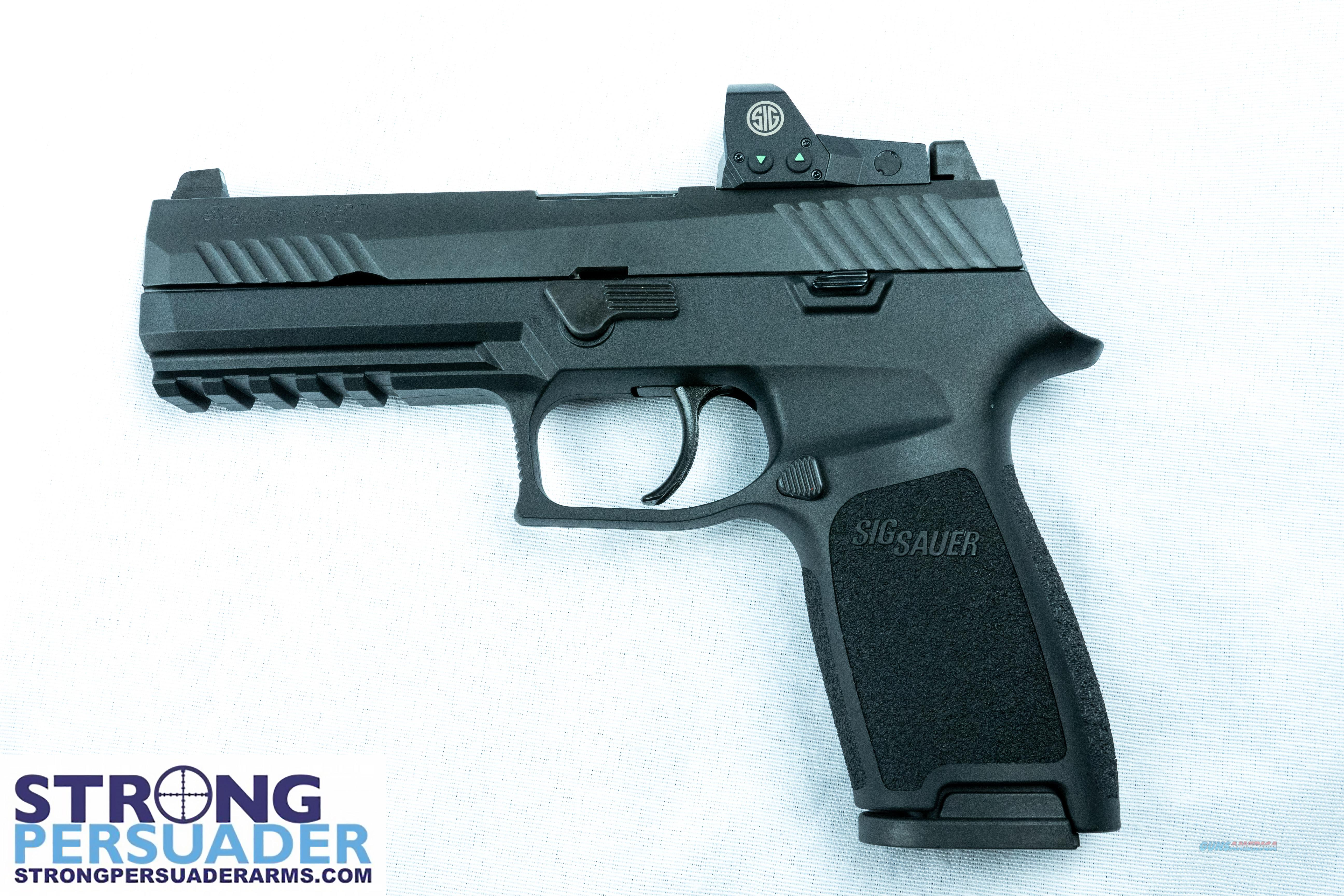 Sig Sauer P320 Full Size w ROMEO1 (320F-9-BSS-RX)  Guns > Pistols > Sig - Sauer/Sigarms Pistols > P320