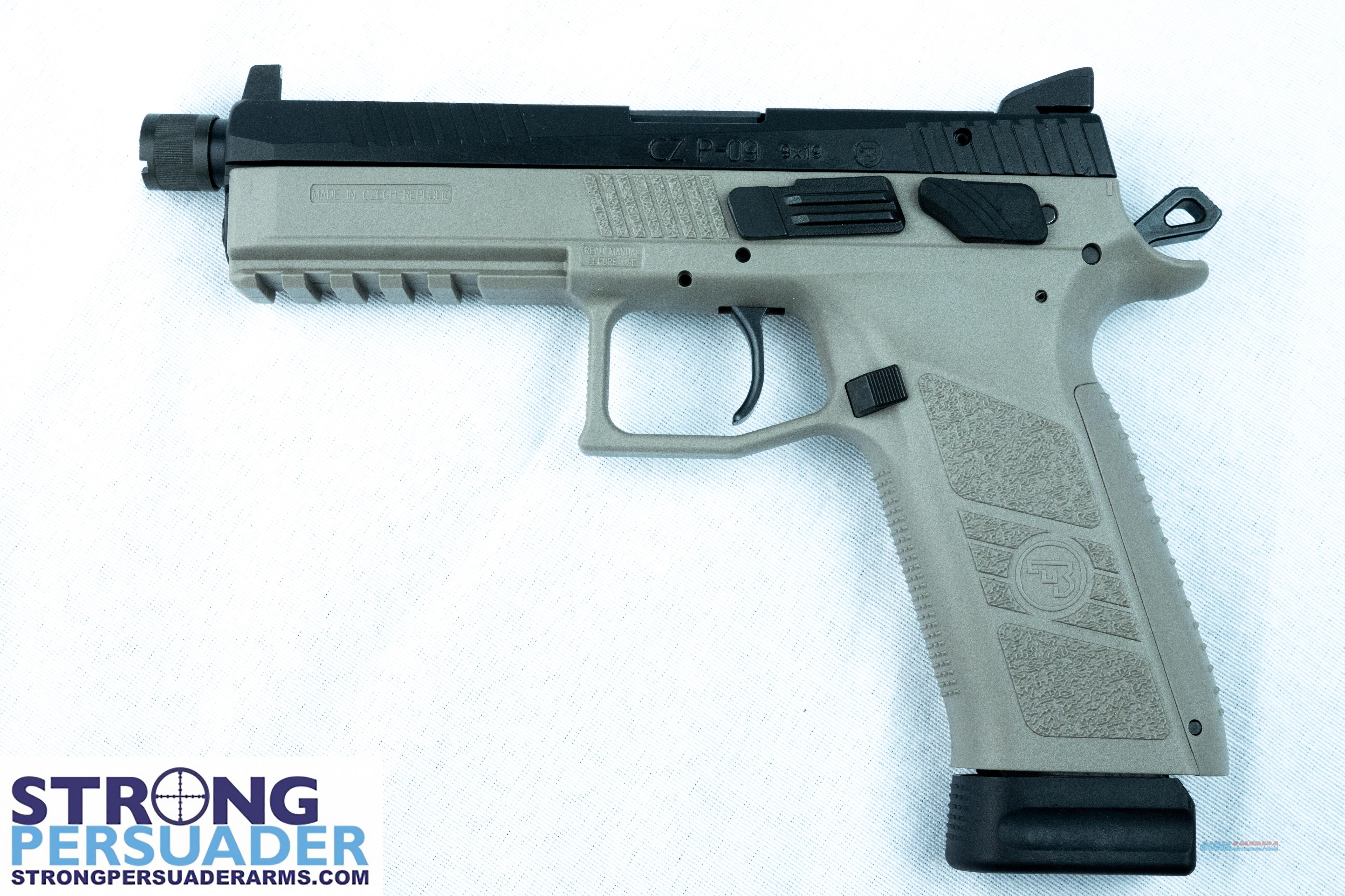 P-09 Urban Grey Suppressor Ready (91269)  Guns > Pistols > CZ Pistols