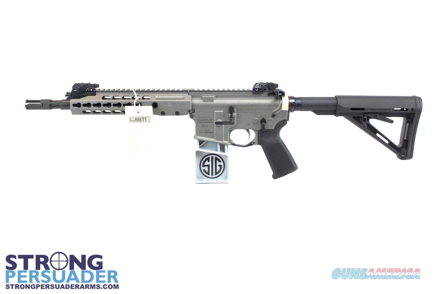 Barrett REC 7 SBR (All NFA Rules apply) Tungsten Gray  Guns > Rifles > Barrett Rifles