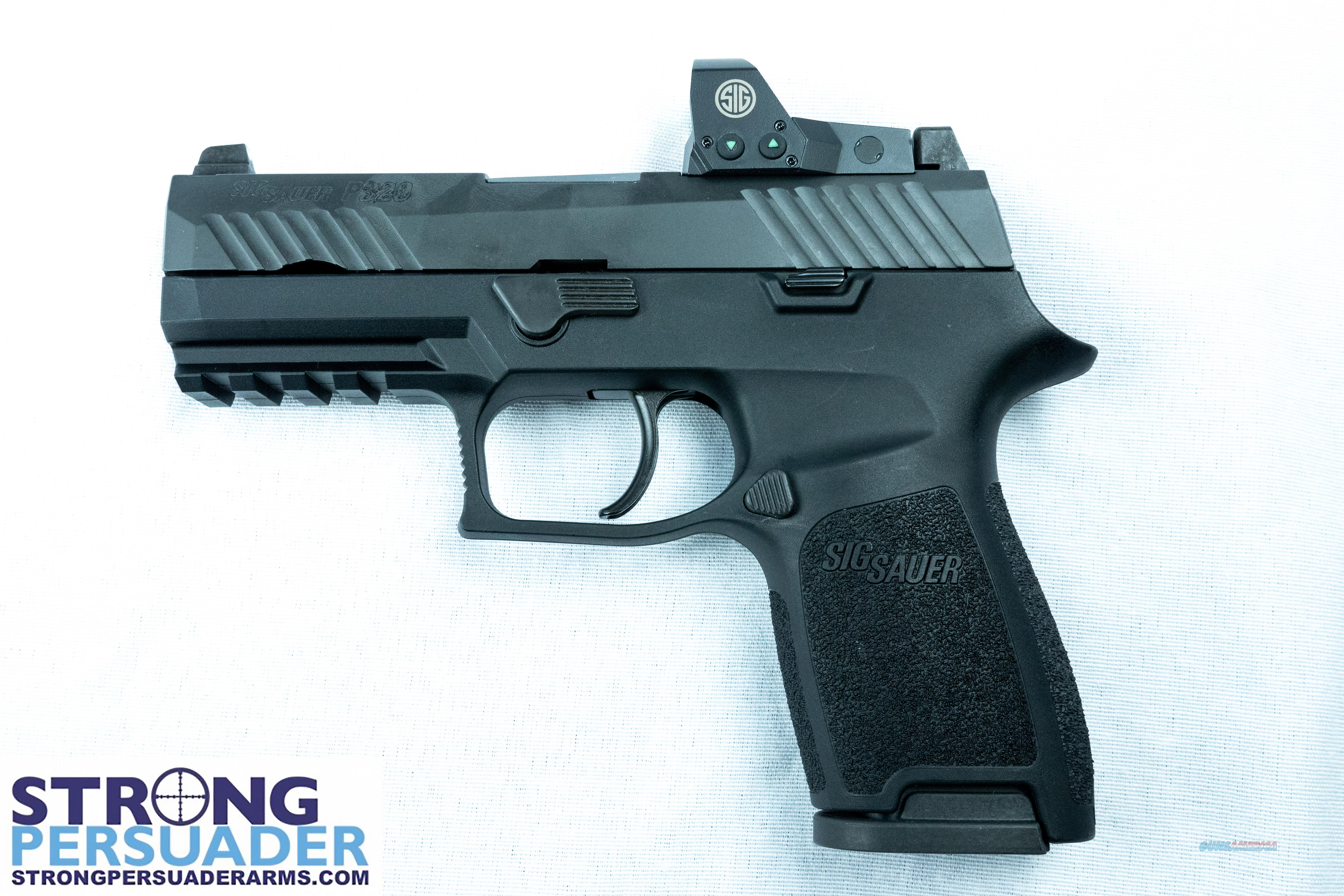 Sig Sauer P320 Compact w ROMEO1 (320C-9-BSS-RX)  Guns > Pistols > Sig - Sauer/Sigarms Pistols > P320