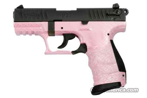Walther P22 Pink Carbon Fiber Threaded Barrel (Pink/Black)  Guns > Pistols > Walther Pistols > Post WWII > P22