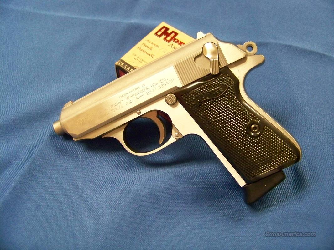 WALTHER PPK/S Stainless .380 ACP with extras  Guns > Pistols > Walther Pistols > Post WWII > PPK Series