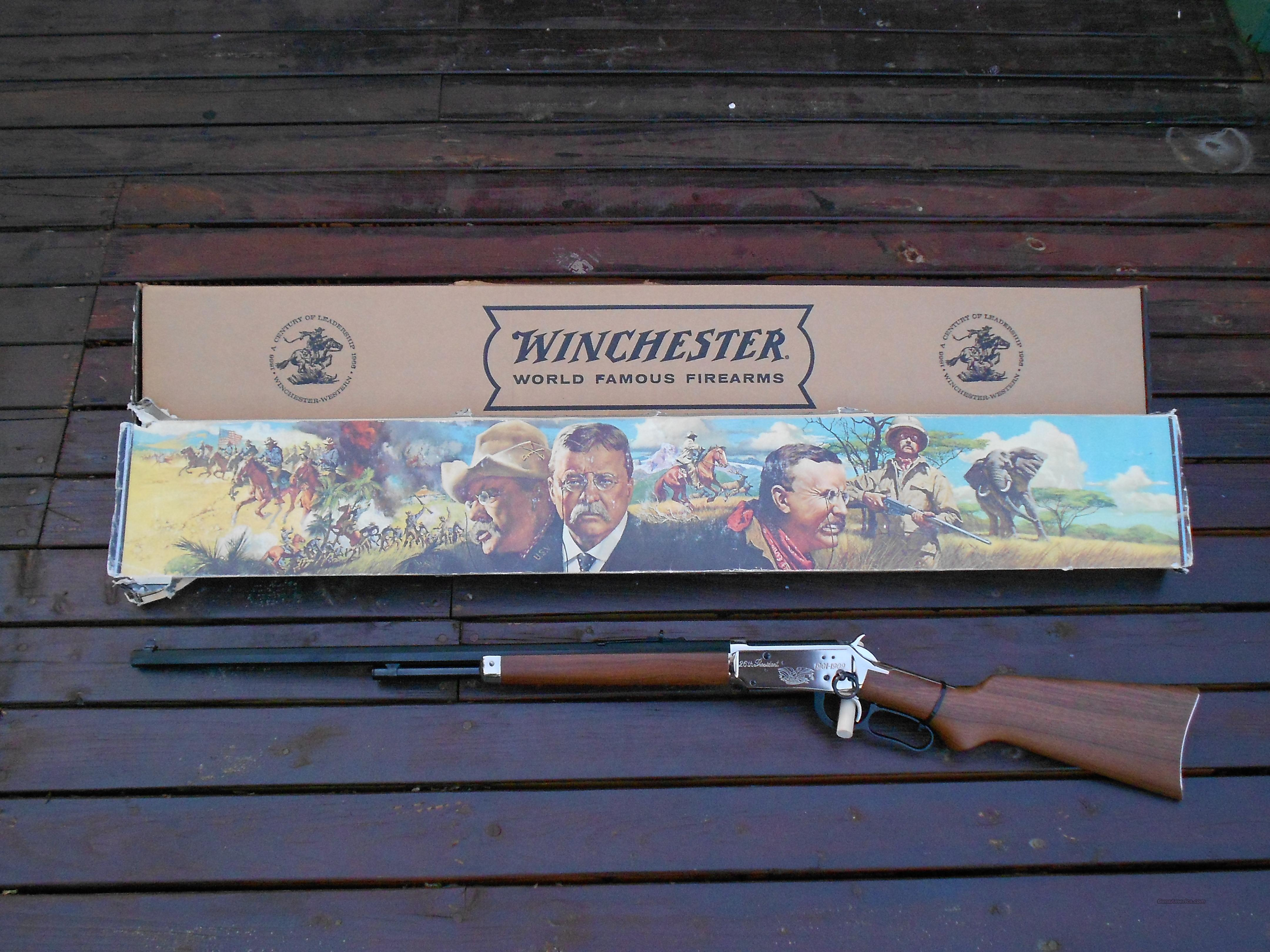 WINCHESTER 30-30 TEDDY ROOSEVELT COMMORATIVE  Guns > Rifles > Winchester Rifles - Modern Lever > Model 94 > Post-64