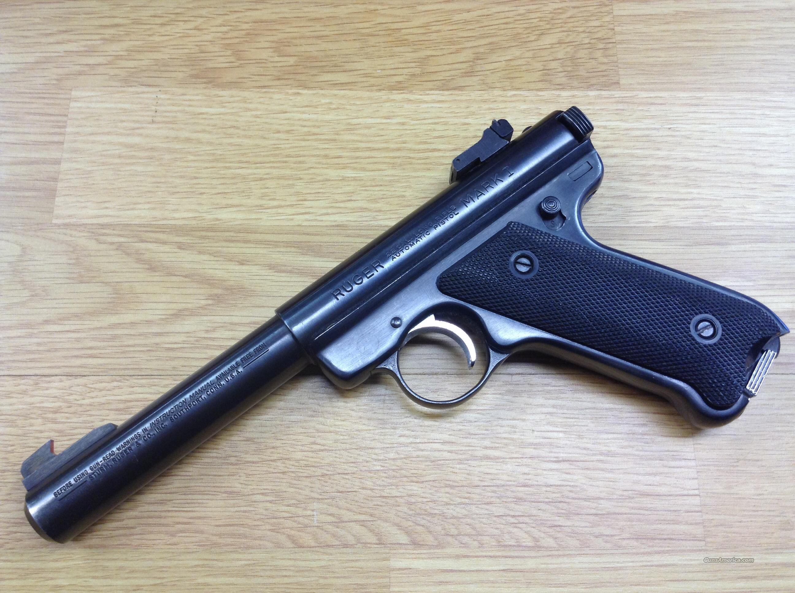 Ruger Mark I Target, with 6 magazines  Guns > Pistols > Ruger Semi-Auto Pistols > Mark I & II Family