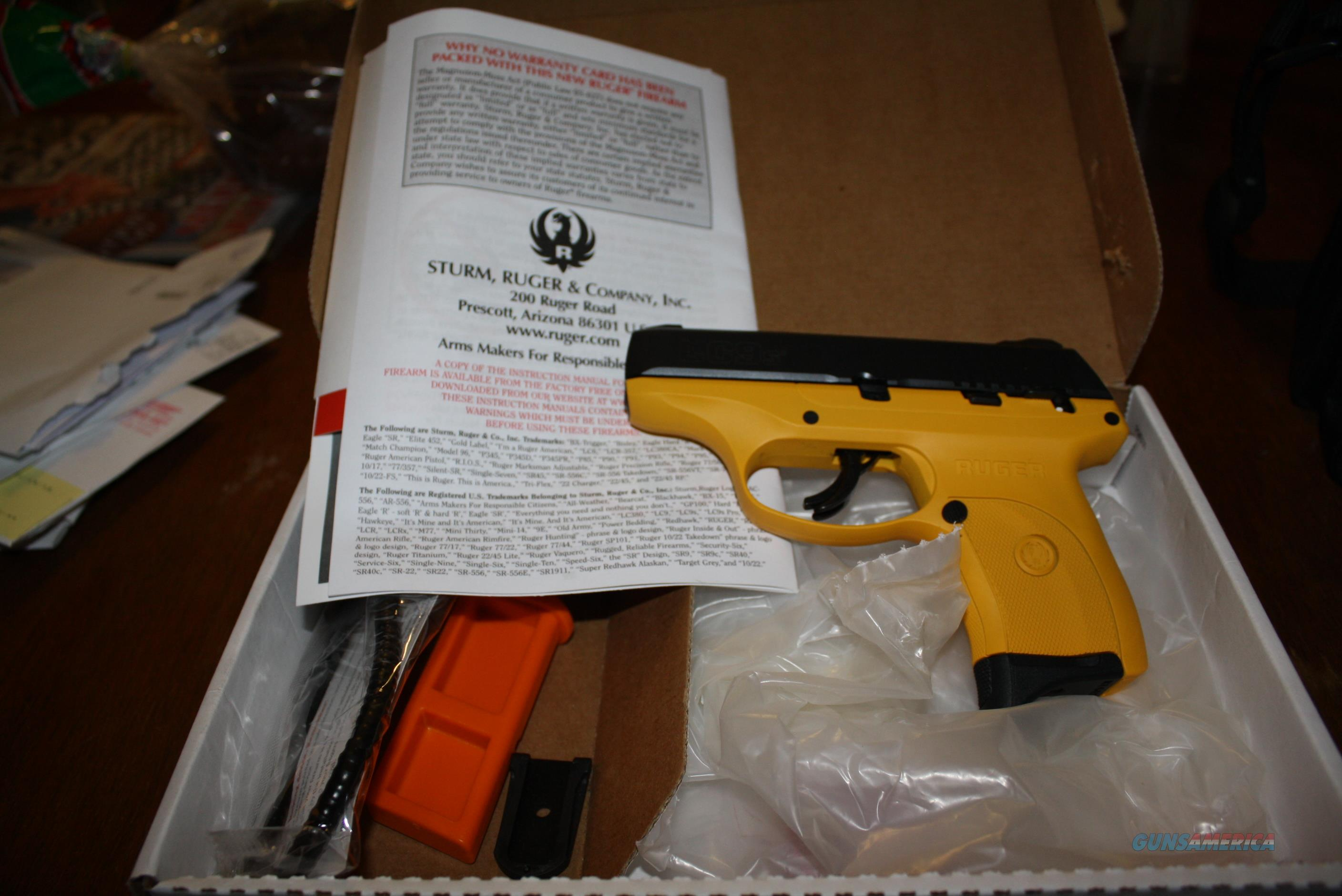 NEW RUGER LC9s WITH YELLOW CERAKOTE FRAME 9MM  Guns > Pistols > Ruger Semi-Auto Pistols > LC9