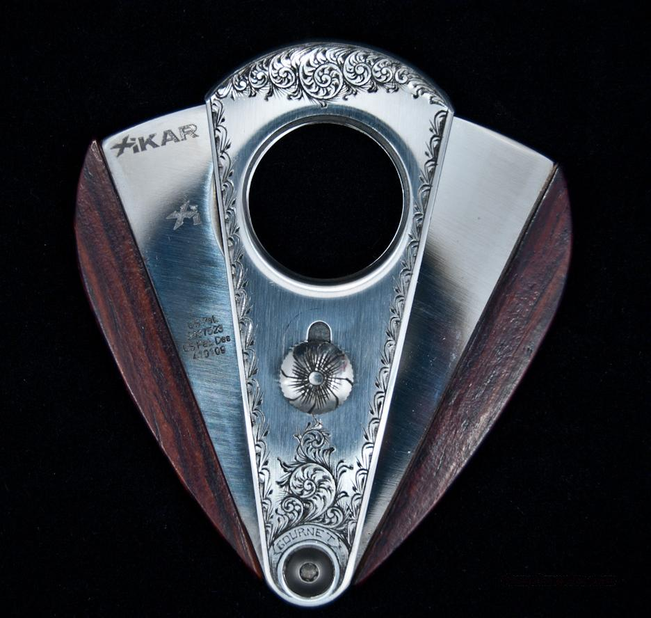 Hand Engraved Xikar Cocobolo Cutter  Non-Guns > Miscellaneous