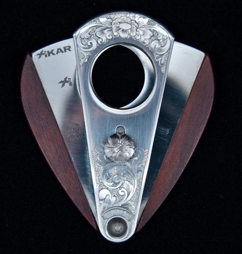 Hand Engraved Redwood Xikar Cigar Cutter  Non-Guns > Miscellaneous
