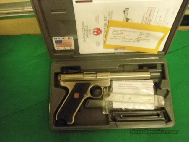 RUGER MARK III  5.6 IN BBL STAINLESS  Guns > Pistols > Ruger Semi-Auto Pistols > Mark I & II Family