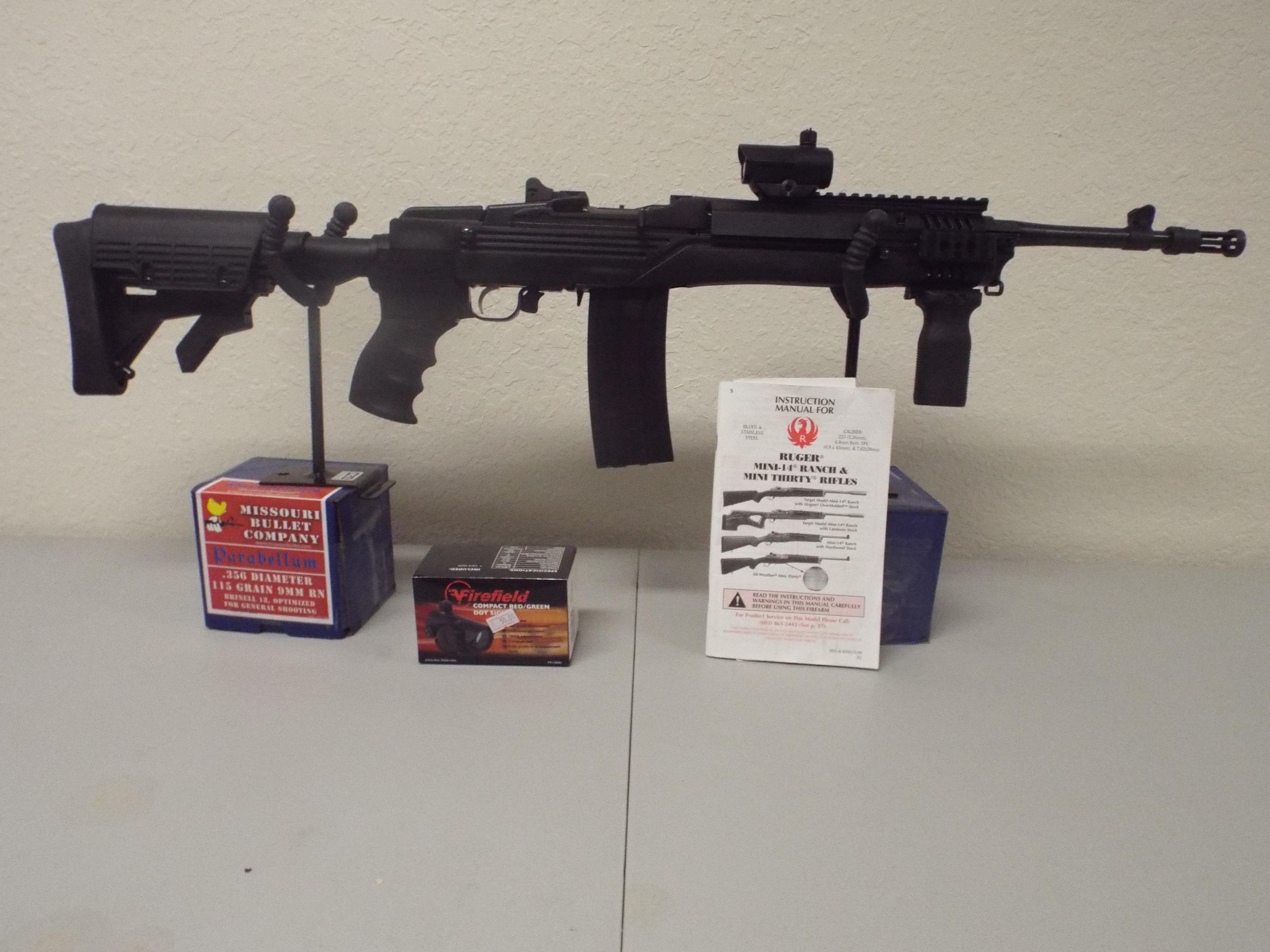RUGER MINI 14 TACTICAL SIDE FOLDER WITH FIREFIELD RED DOT   Guns > Rifles > Ruger Rifles > Mini-14 Type