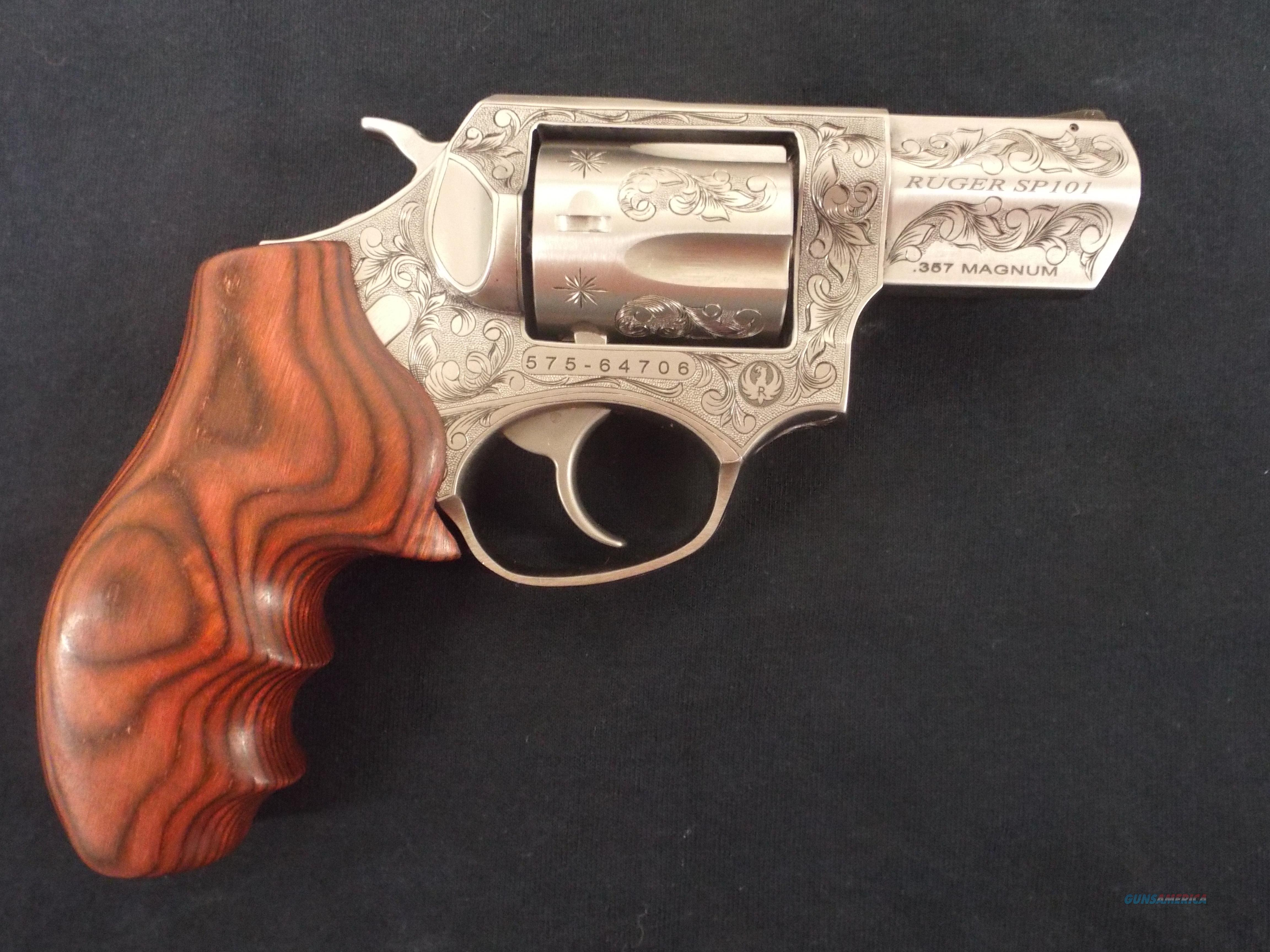 RUGER SP 101 357 MAGNUM FULL ENGRAVED BY RENOWNED ENGRAVER KEN SMITH   Guns > Pistols > Ruger Double Action Revolver > SP101 Type