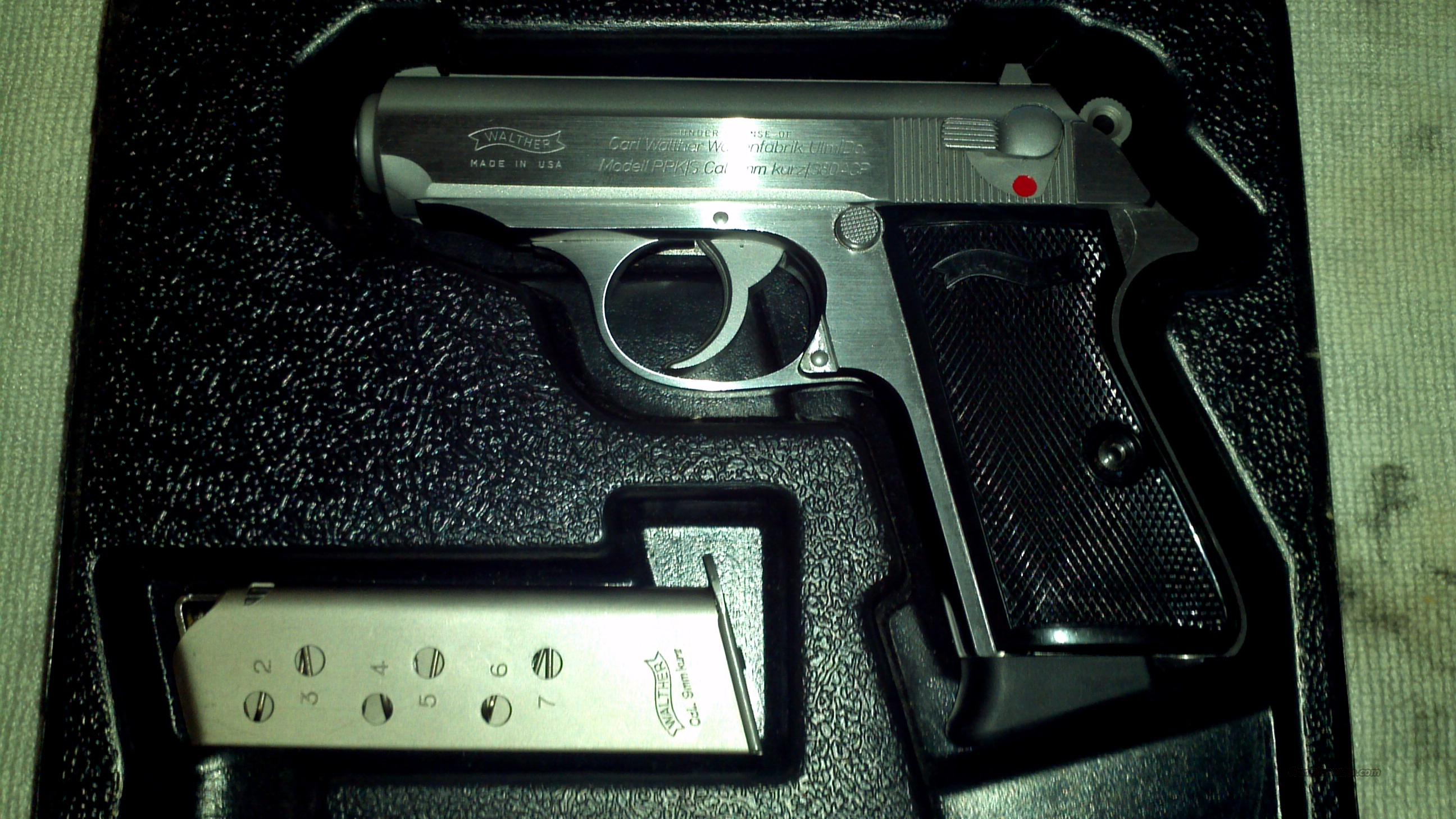WALTHER PPK/S .380ACP SS INTERARMS  Guns > Pistols > Walther Pistols > Post WWII > PPK Series