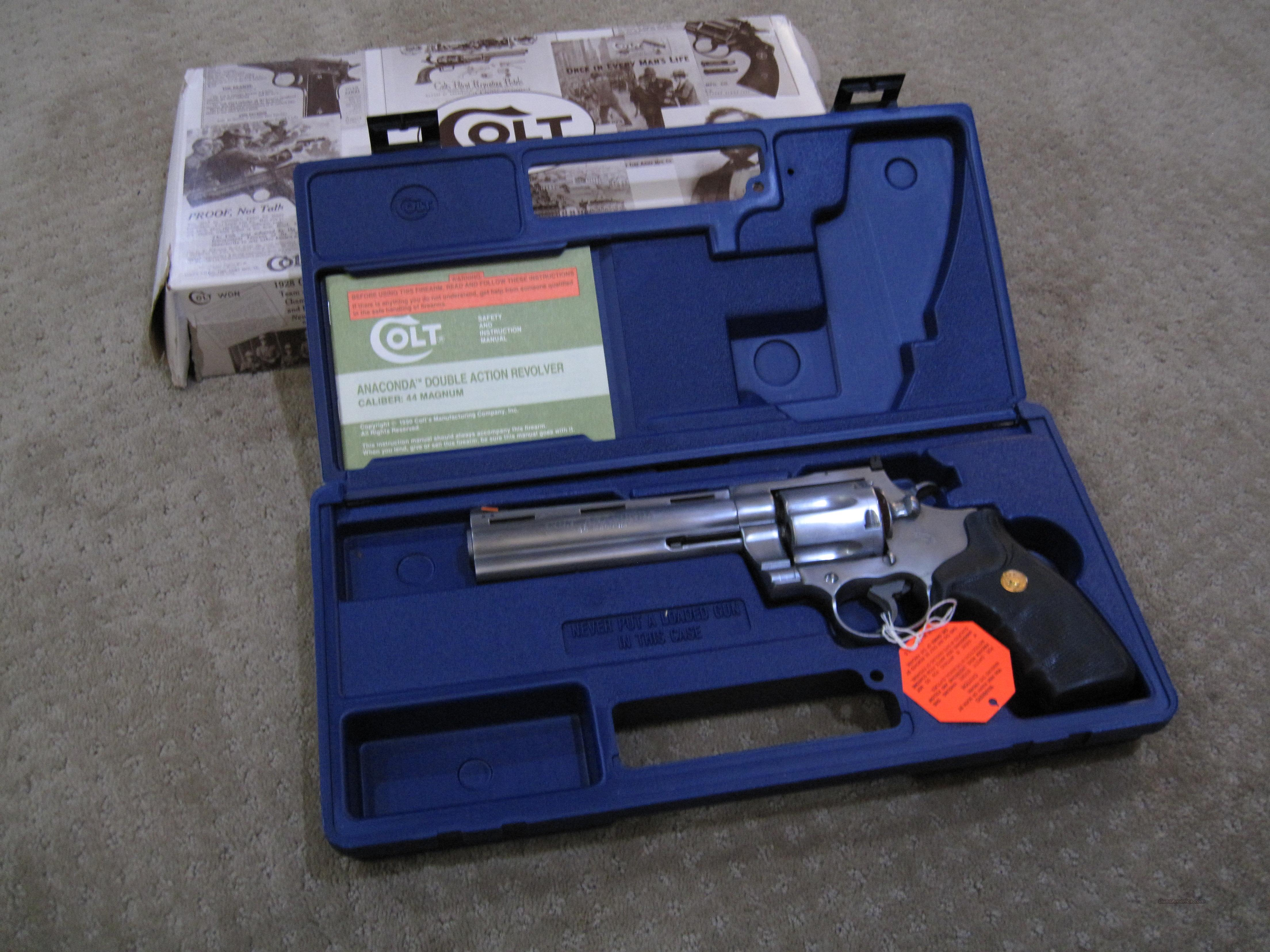 "Colt Anaconda 6""  Rare 1991 / 1992 early production  Guns > Pistols > Colt Double Action Revolvers- Modern"