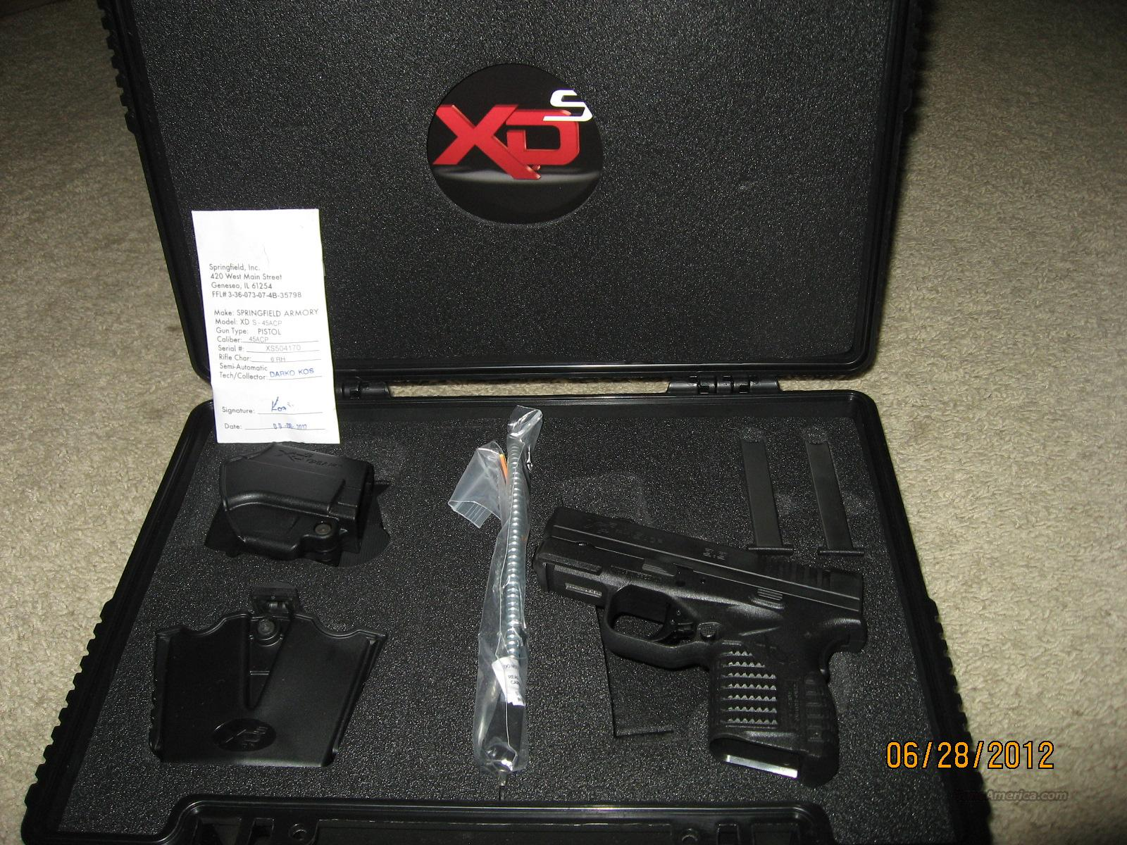 Springfield Armory XDS .45acp New In Box  Guns > Pistols > Springfield Armory Pistols > XD-S