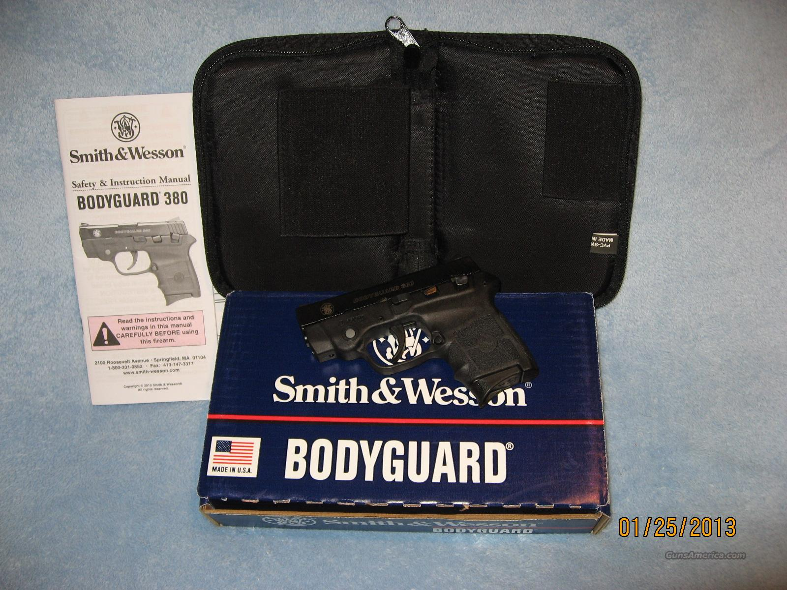 Smith & Wesson Bodyguard 380 acp/laser  Guns > Pistols > Smith & Wesson Pistols - Autos > Polymer Frame