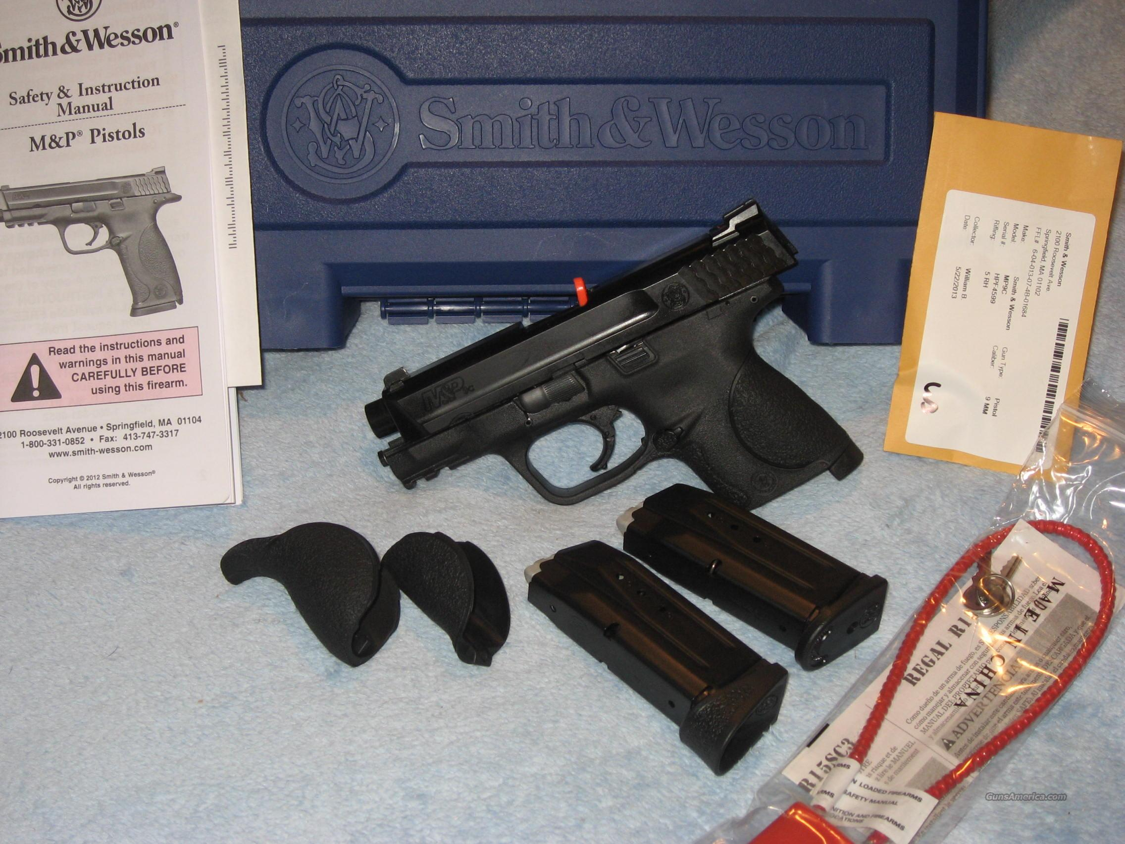 Smith & Wesson M&P9c Compact No Thumb Safety  Guns > Pistols > Smith & Wesson Pistols - Autos > Polymer Frame