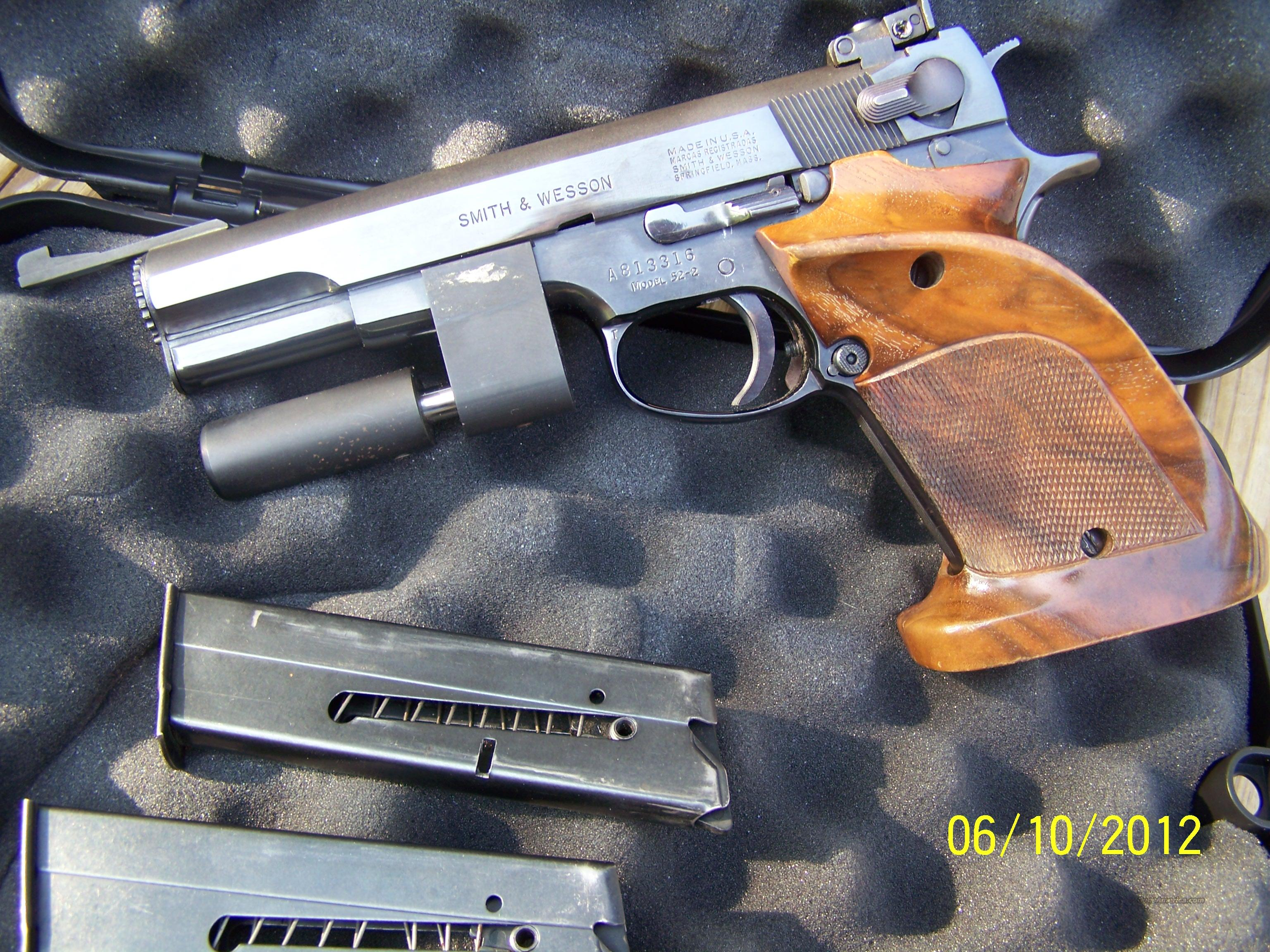 SMITH & WESSON Mod 52-2 .38 SPEC WC  Guns > Pistols > Smith & Wesson Pistols - Autos > Steel Frame