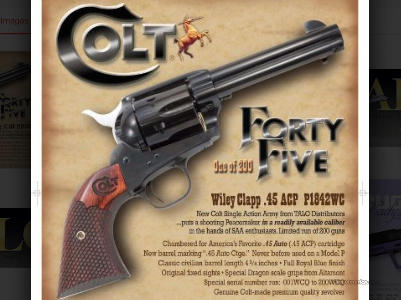 COLT SINGLE ACTION ARMY (TALO)  Guns > Pistols > Colt Single Action Revolvers - 3rd Gen.