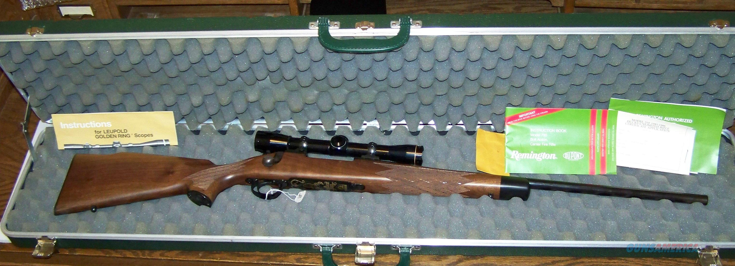 "Remington 700 Bolt Action - Center Fire Rifle ""Ducks Unlimited Commemorative 85-86"" 30-06 Cal   Guns > Rifles > Remington Rifles - Modern > Model 700 > Sporting"