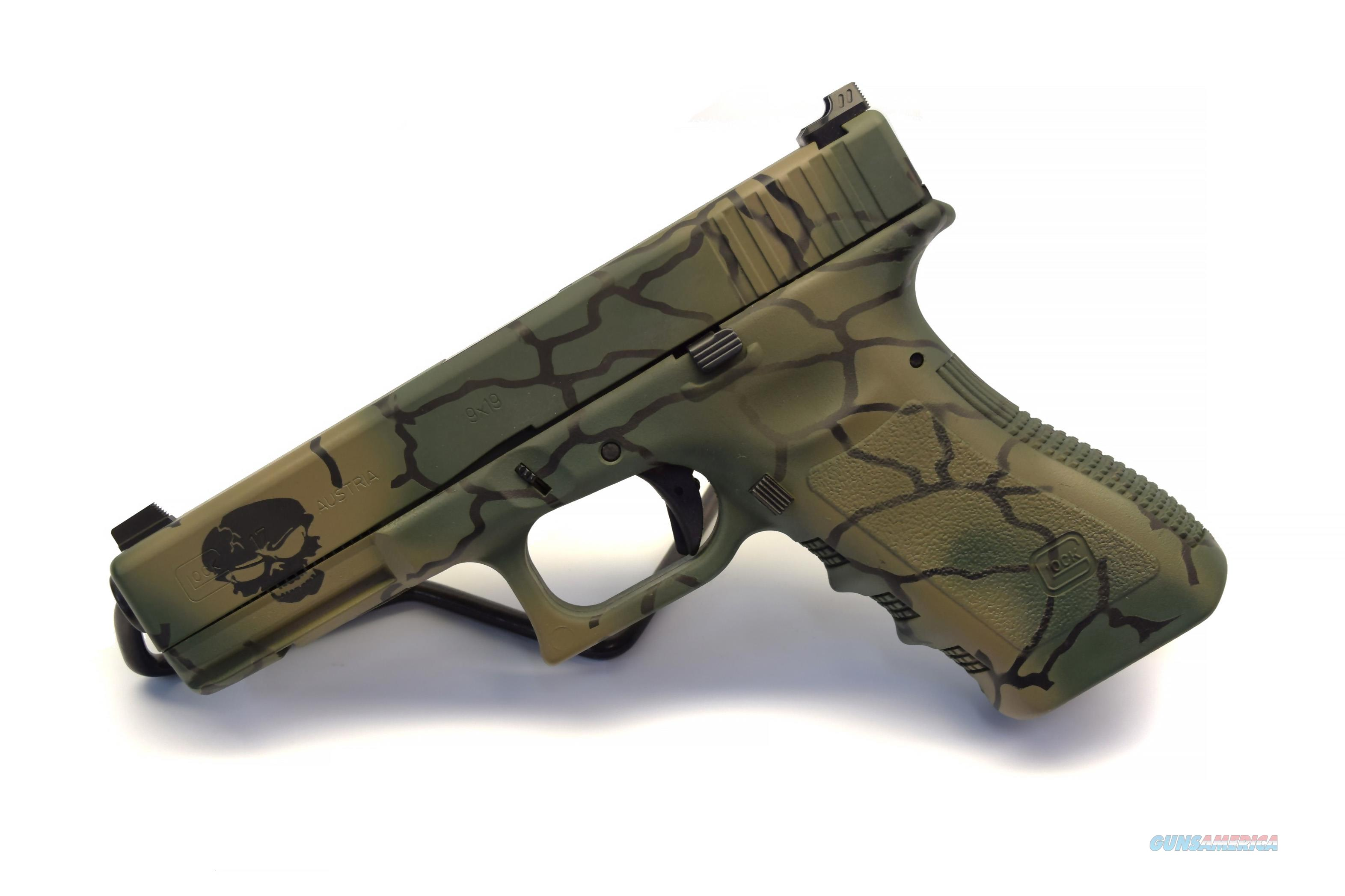 Glock 17 in Cerakote camo with Zev Battle Sights with 2 mags  Guns > Pistols > Glock Pistols > 17