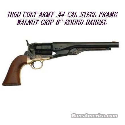 New 1860 Army 44 cal Black Powder Percussion Revolver  Guns > Pistols > Muzzleloading Modern & Replica Pistols (perc)