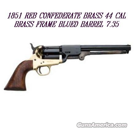 1851 Traditions Navy Reb Confederate 44 cal percussion Brass Frame  Guns > Pistols > Muzzleloading Modern & Replica Pistols (perc)