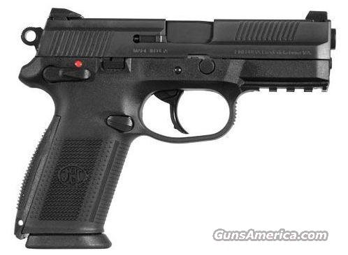 "FN FNX 40SW 14Round, 4"" Black Poly w/Rail & Night Sights  Guns > Pistols > FNH - Fabrique Nationale (FN) Pistols > FNP"