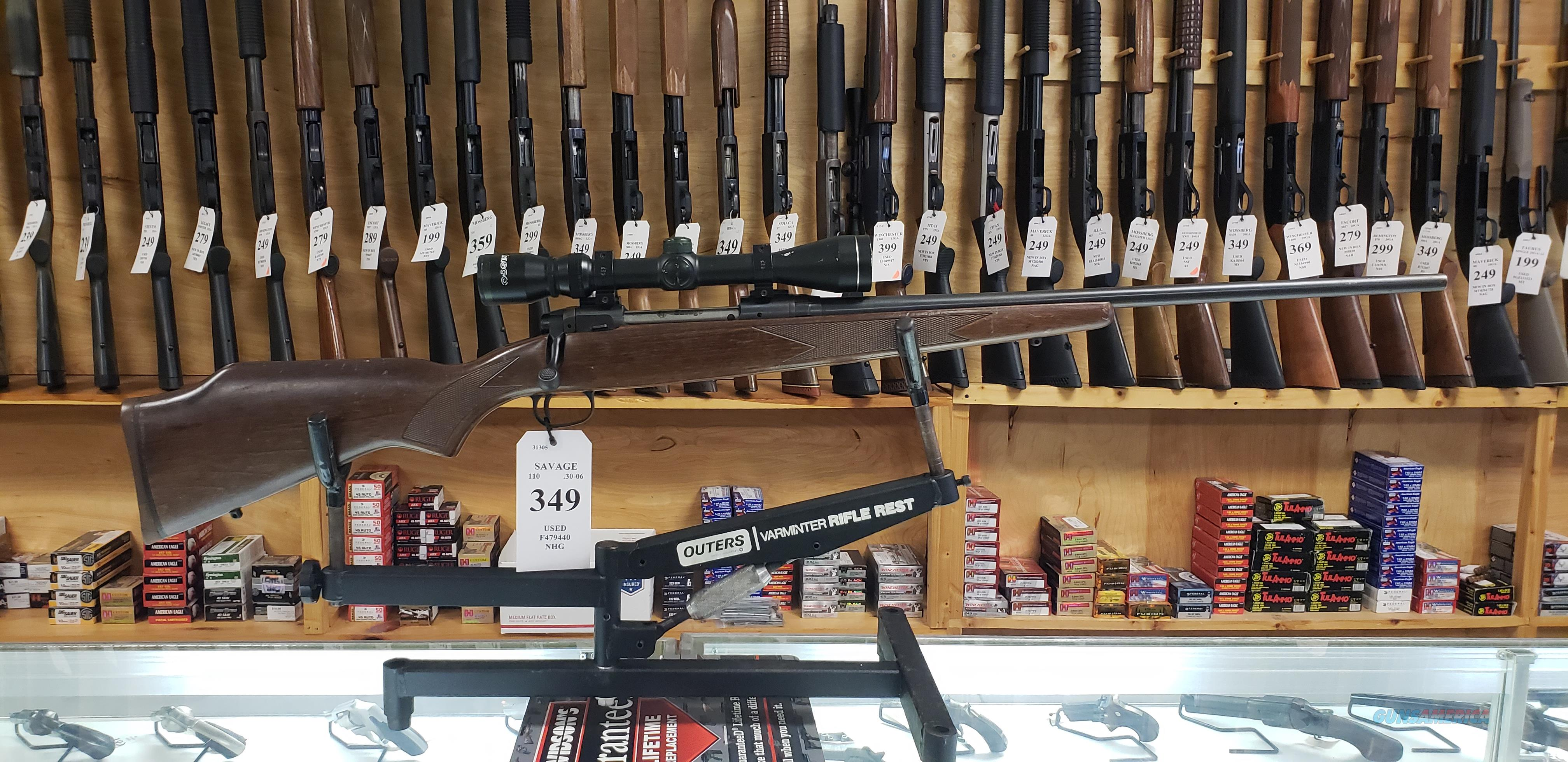 Used Savage 110 .30-06 with Scope *LAYAWAY AVAILABLE*  Guns > Rifles > Savage Rifles > 10/110