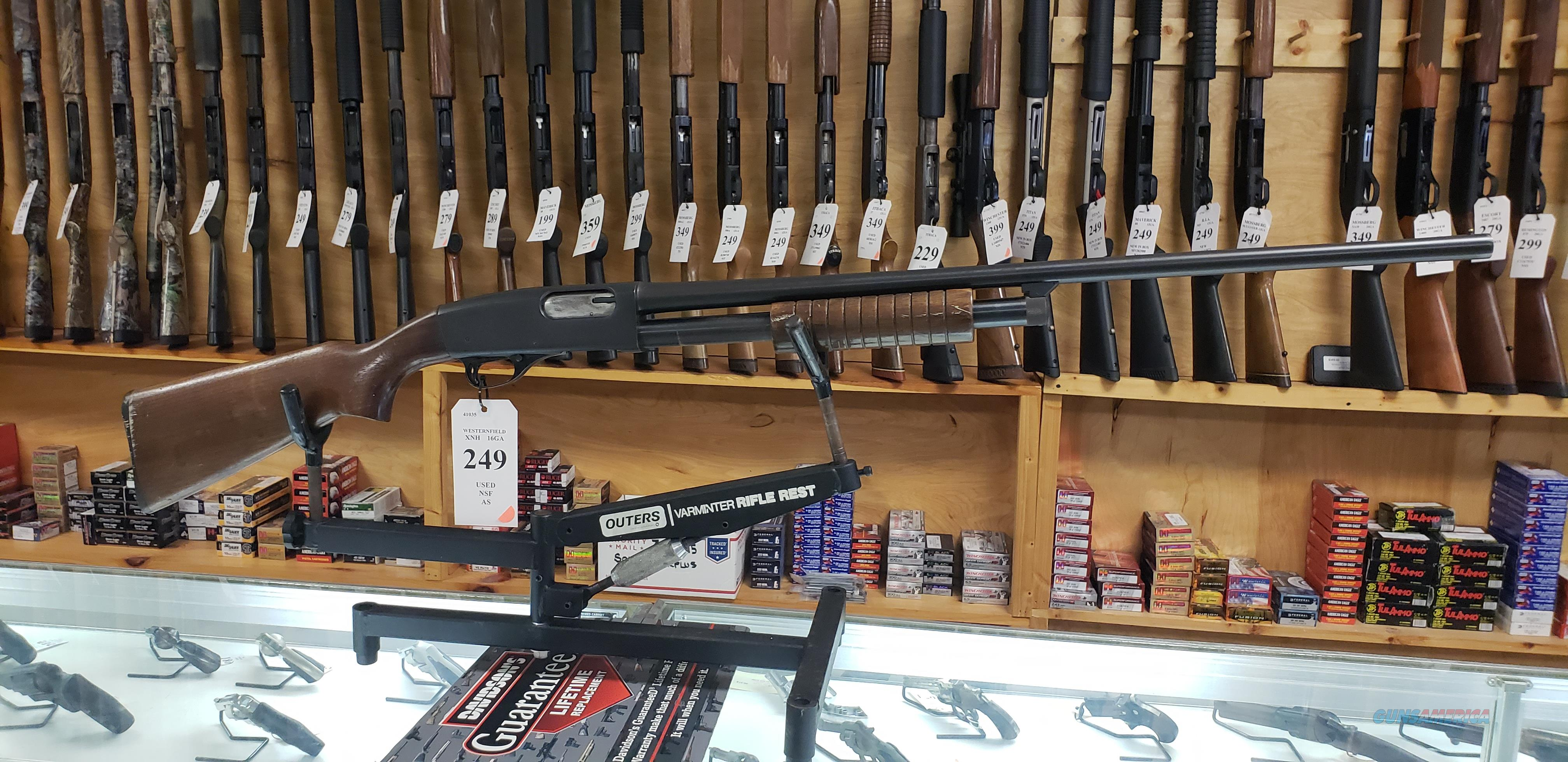 Montgomery Ward Westernfield XNH (NOBEL 602) 16GA Pump Shotgun *LAYAWAY AVAILABLE*  Guns > Shotguns > Nobel Shotguns