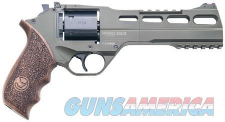 "Chiappa Firearms CF340282 Rhino 60SAR 357 Mag 6"" 6 Round OD Green Walnut Grip  Guns > Pistols > C Misc Pistols"