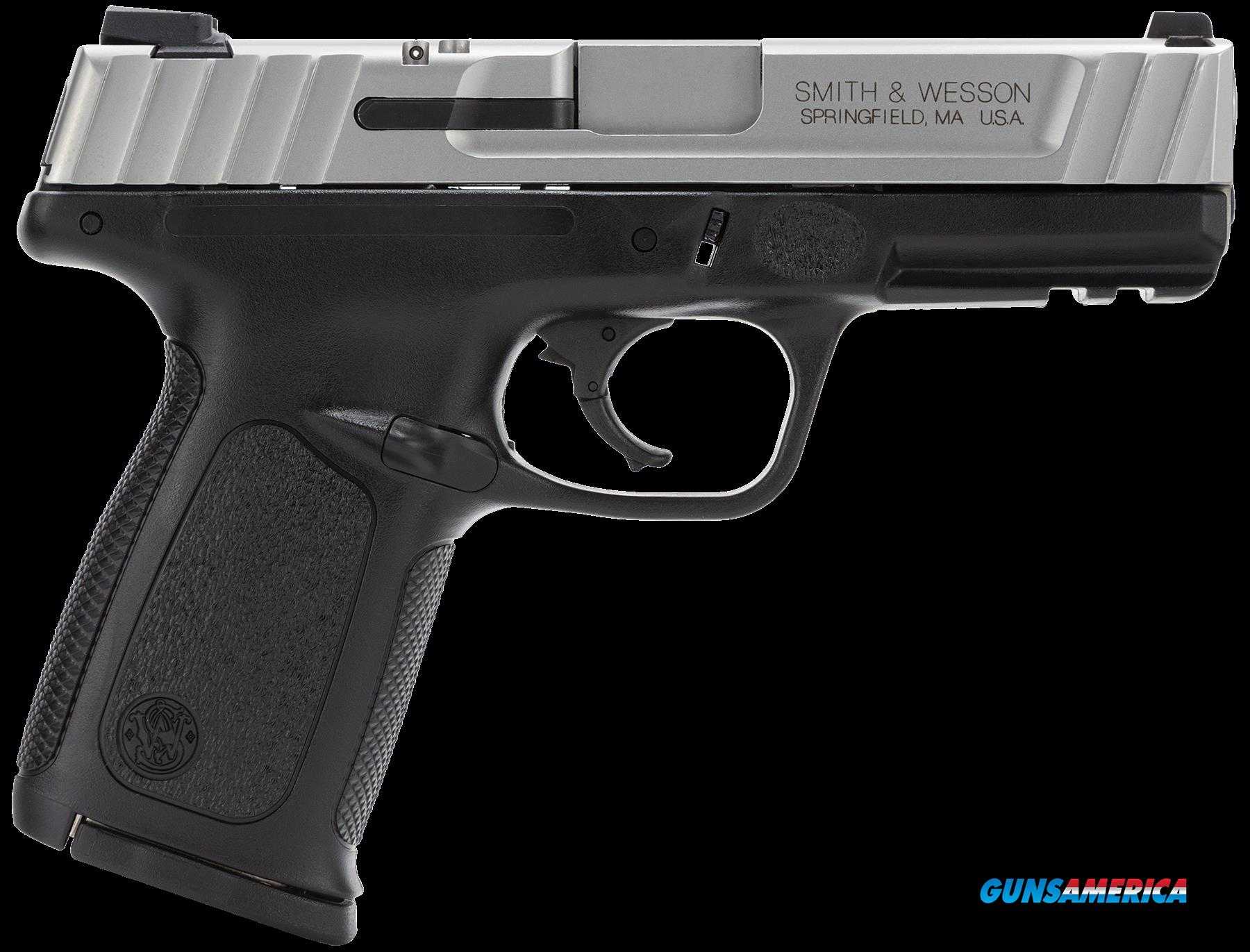"Smith & Wesson 123402 SD VE *MA Compliant* Double 40 Smith & Wesson (S&W) 4"" 10+1 Black Polymer Grip  Guns > Pistols > S Misc Pistols"