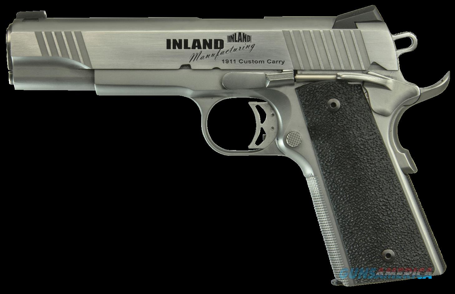 "Inland Mfg ILM1911TC 1911 Custom Carry Single 45 ACP 5"" 7+1 Black Ergo XT Grip Stainless  Guns > Pistols > IJ Misc Pistols"