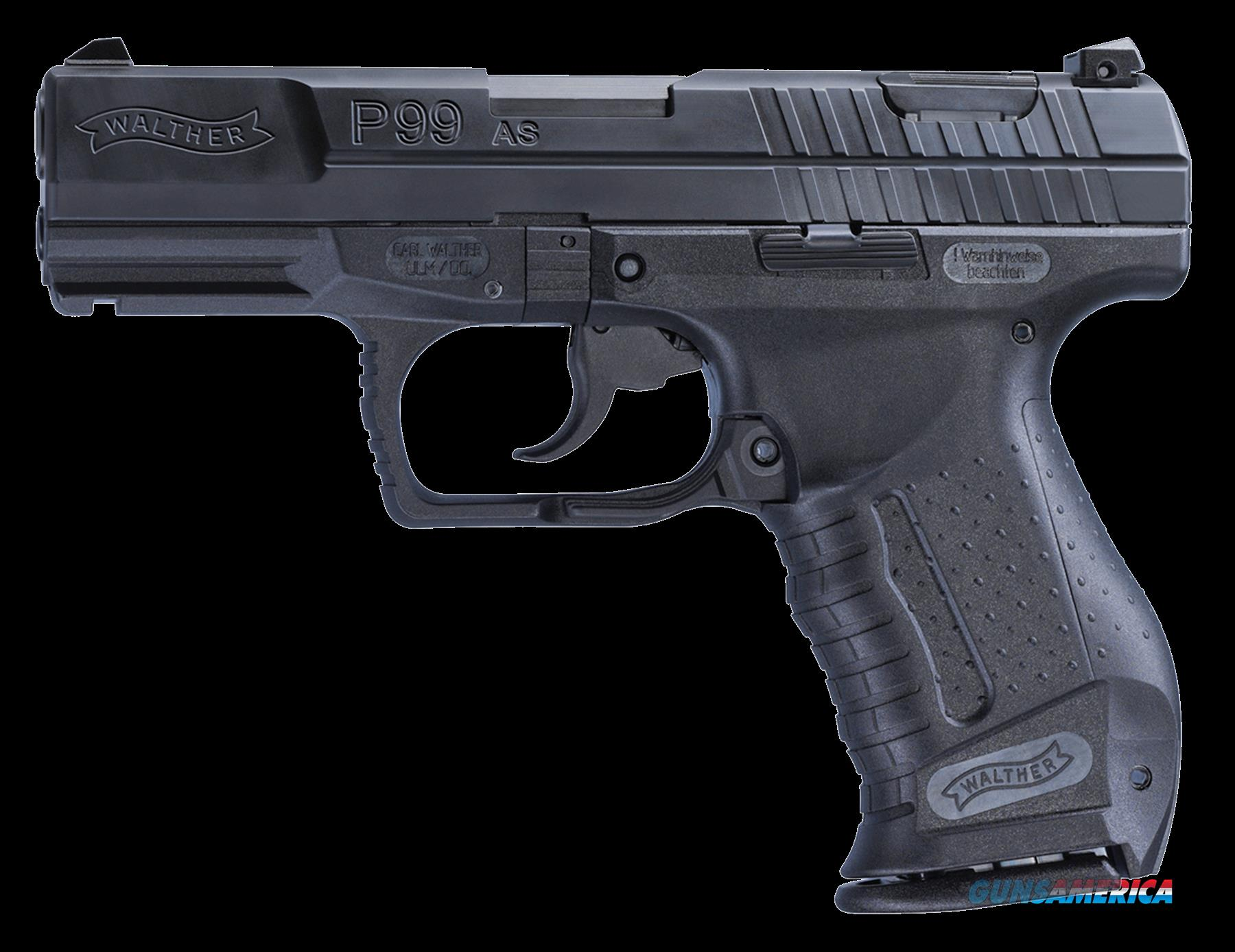 "Walther Arms 2796341 P99 Anti-Stress Mode 40SW 12rd 4"" Poly Grips Blk  Guns > Pistols > W Misc Pistols"