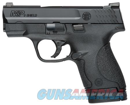 """Smith & Wesson 10086 M&P 9 Shield 9mm Luger Double 3.1"""" 7+1/8+1 Night Sights Black Polymer  Guns > Pistols > Smith & Wesson Pistols - Autos > Shield"""