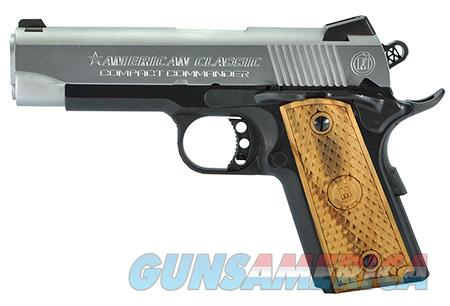 "American Classic ACCC45DT 1911 Compact Commander 45 ACP Single 4.30"" 7+1 Hardwood Grip Hard Chrome  Guns > Pistols > Desert Eagle/IMI Pistols > Other"