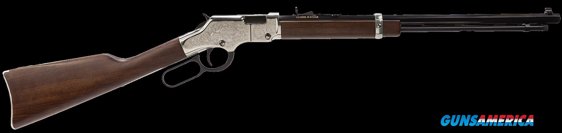 "Henry H004SE Engraved Silver Eagle Lever 22 Short/Long/Long Rifle 20"" 16+1 American Walnut Stk Blued  Guns > Rifles > H Misc Rifles"